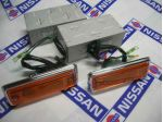 Side Flasher Lamp Units with Chrom Rimes (Genuine/B110 & Ute)