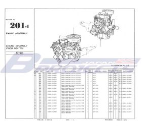 Datsun 1200 Ute Parts Catalog (LB120/Left Hand Drive)