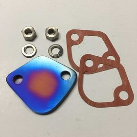 Fuel Pump Block Off Plate (Titanium)