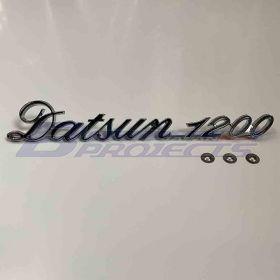 Datsun 1200 Boot Metal Badge (Aftermarket Parts)