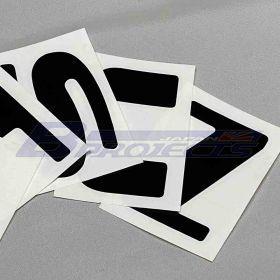 DATSUN Rear Tailgate Letter Decals (Black)